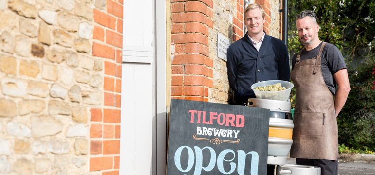 Tilford Brewery celebrate 100th brew